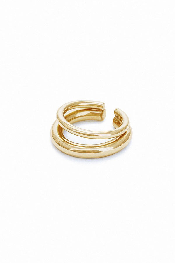 Charlotte earcuff double S gold