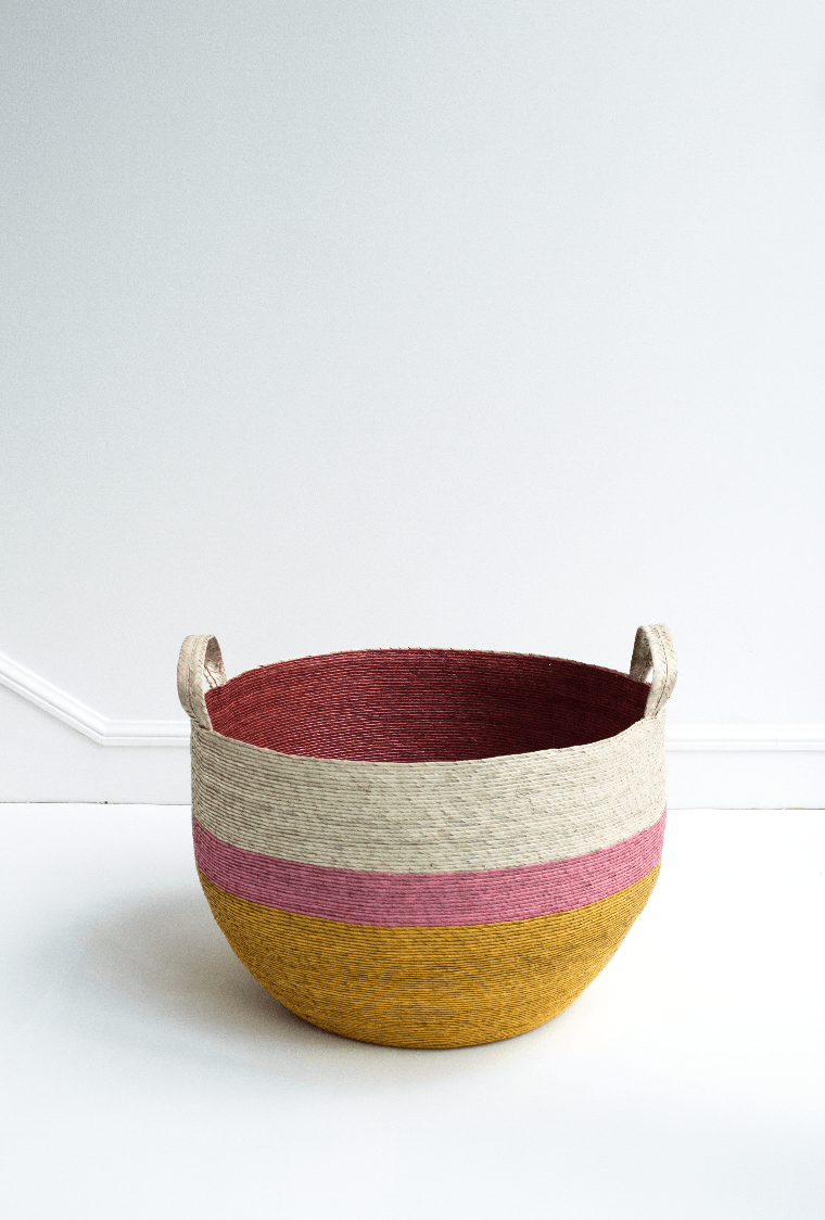 Round basket with handles XL