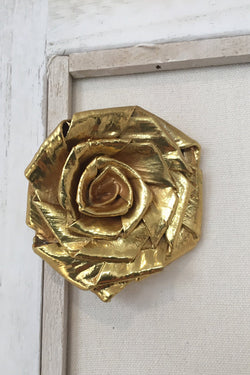 Rose gold plated brooch