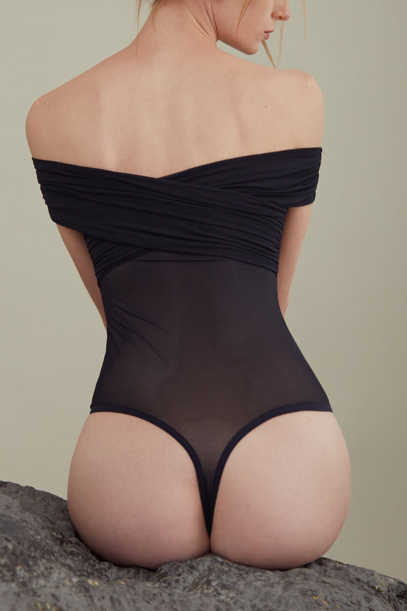 Kristin shoulderless Bodysuit