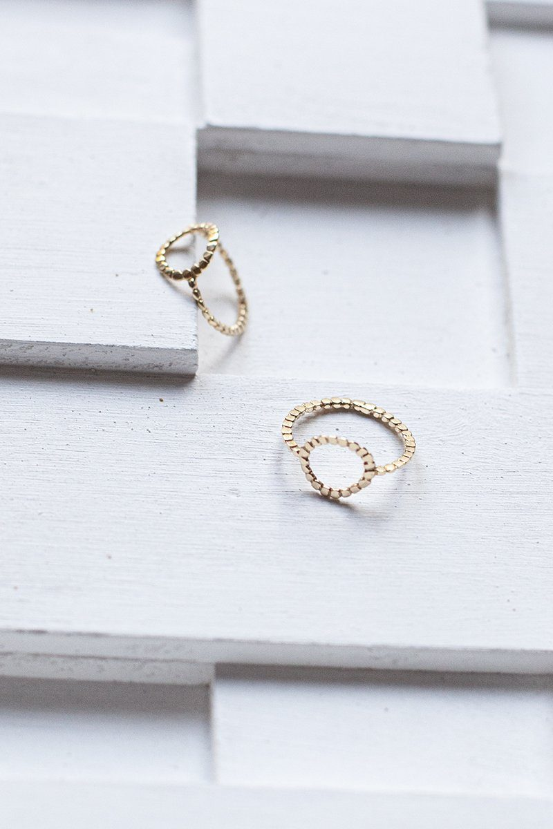 IT ring with circle - 14K Gold