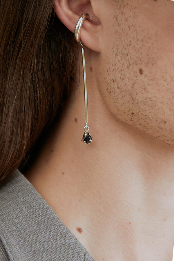 Charlotte earcuff and sapphire silver bar