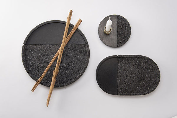 Lava stone trays - Set of 3
