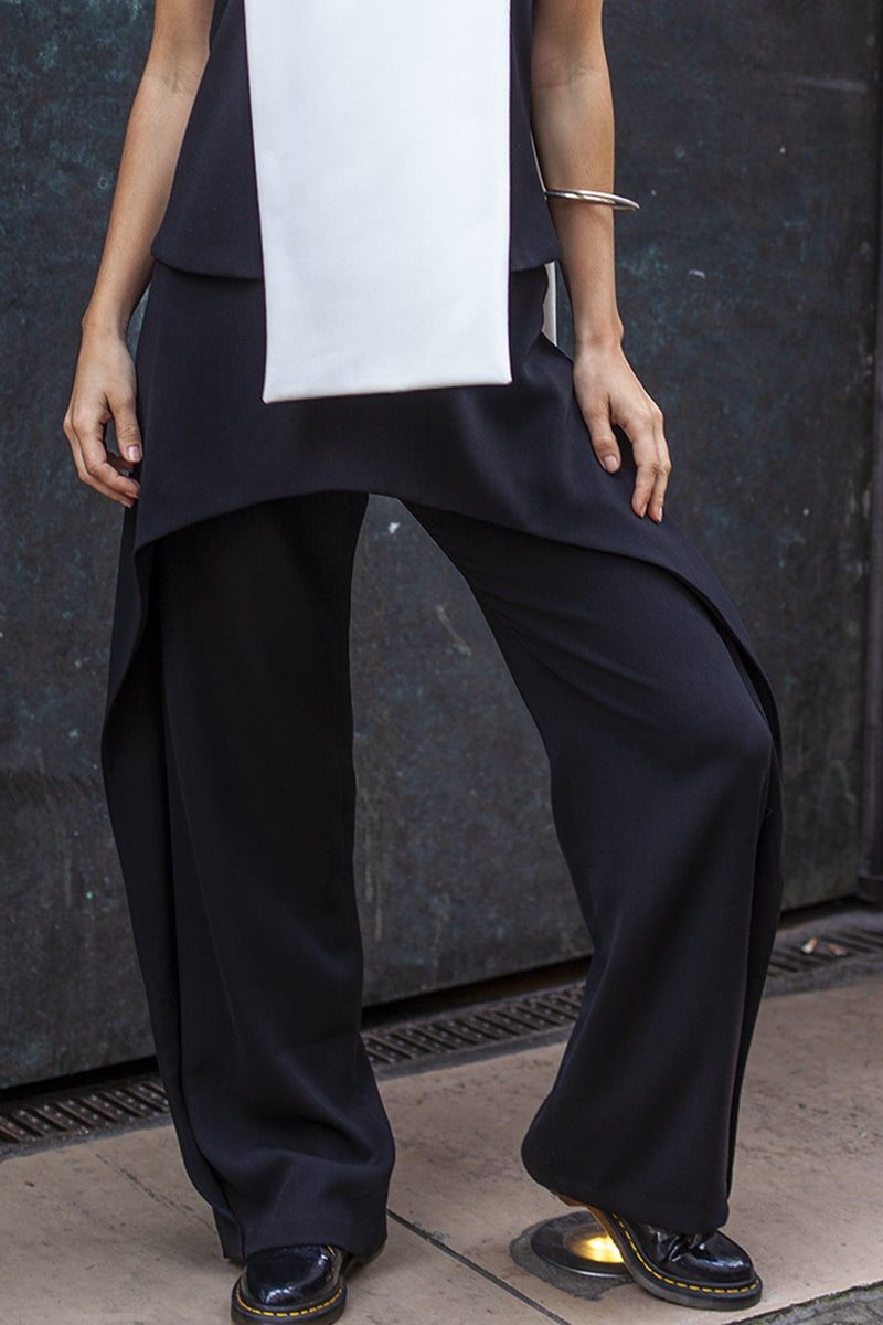 Peplum trousers