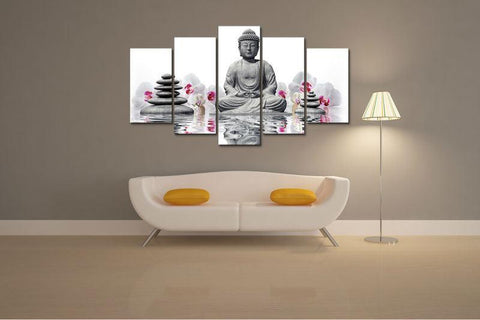 Canvas - Buddha & Orchid Canvas
