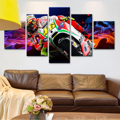 Canvas - Colorful Racing Canvas