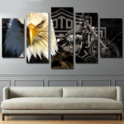 Canvas - Eagle Motorcycle Canvas