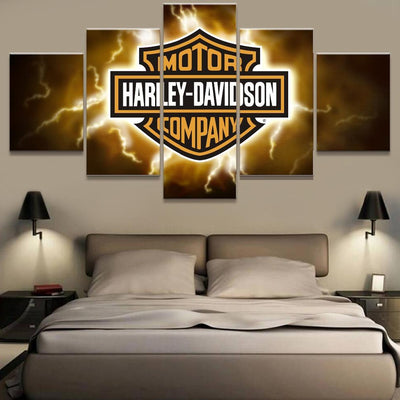 Canvas - Harley Lightening Canvas
