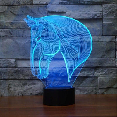 Everything Else - 3D Horse Lamp. 7 Changing Colors.