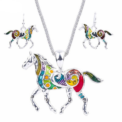 Jewelry - Multicolor Horses Jewelry Set