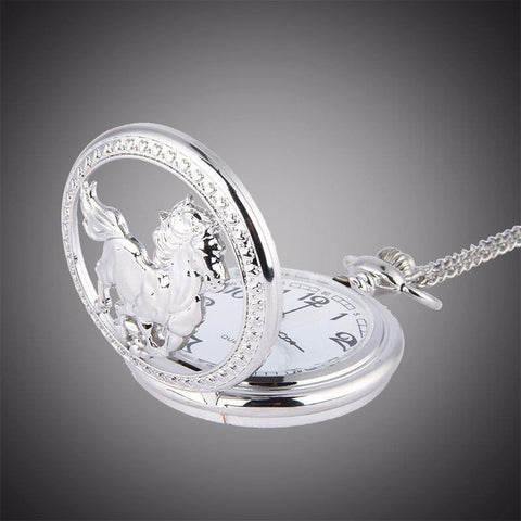 Jewelry - Stainless Steel Horse Pocket Watch