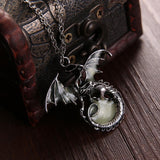Glow in the Dark Dragon Necklace