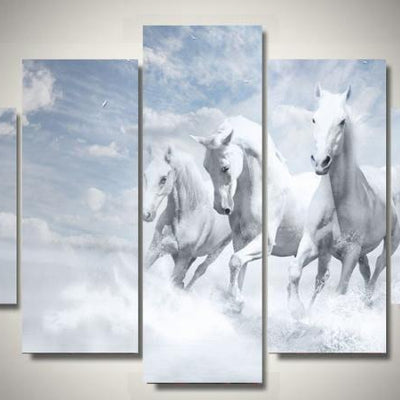 Wallart2 - 3 Majestic White Horses