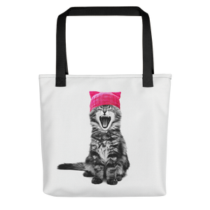 Cat in a Pink Hat Tote bag