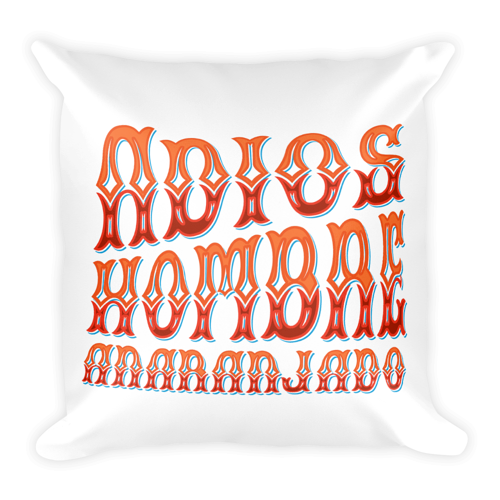 Adios, Hombre Anaranjado (Goodbye, Orange Man) White Square Pillow