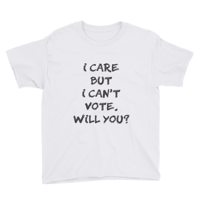 I Care But I Can't Vote Youth T-Shirt