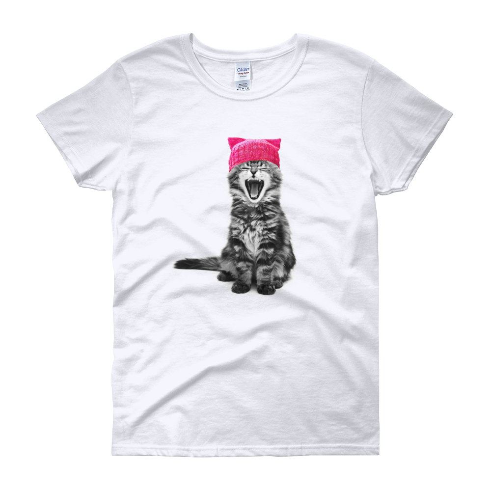 Cat in a Pink Hat Women's T-Shirt