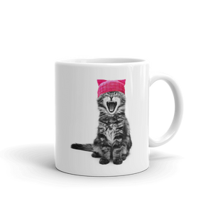 Cat in a Pink Hat 11oz Mug