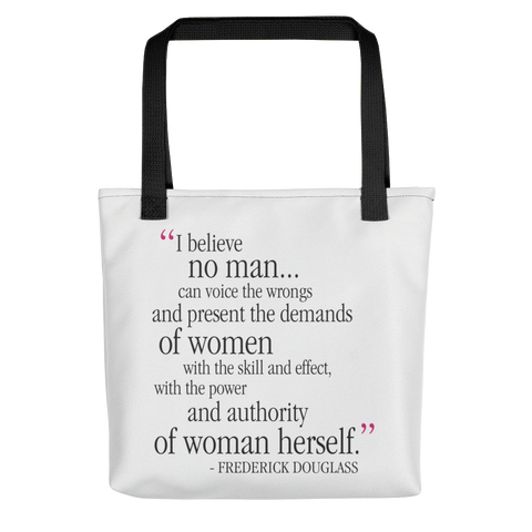 Frederick Douglass Quote (I Believe) Tote bag