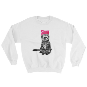 Cat in a Pink Hat Sweatshirt