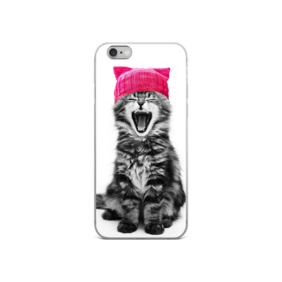 Cat in a Pink Hat iPhone Case