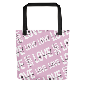 Love is All Around tote bag