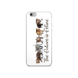 The Future is Feline iPhone Case
