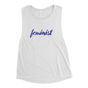 Feminist Ladies' Muscle Tank (Purple)