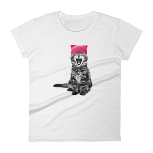 Cat in a Pink Hat Women's Premium T-Shirt