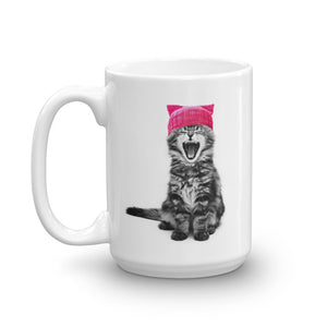 Cat in a Pink Hat 15oz Mug
