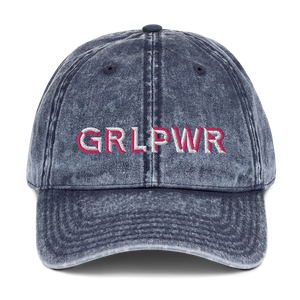 GRL PWR (Girl Power) Vintage Cotton Twill Cap