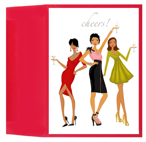 Trio Toast Greeting Card | Fab Design Company