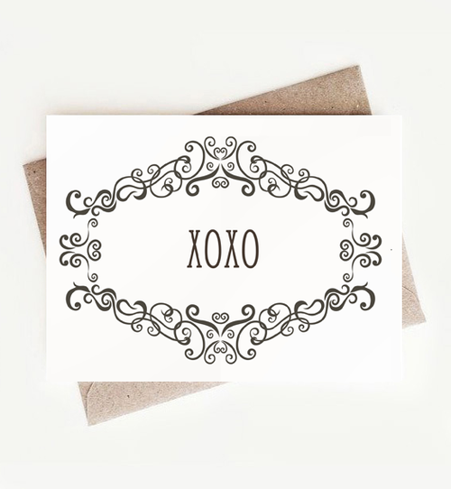 Fun, Funny, Stylish Greeting Card Assortment Gift for Her, XOXO Notecards