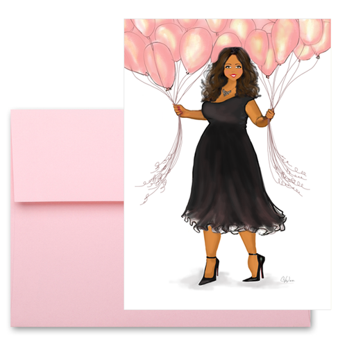 Beautiful Birthday African American Greeting Card for Her