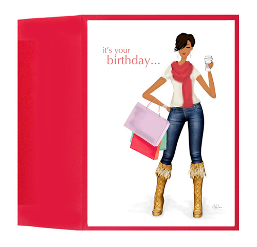 African American Black Happy Birthday Card Gift, It's Your Birthday