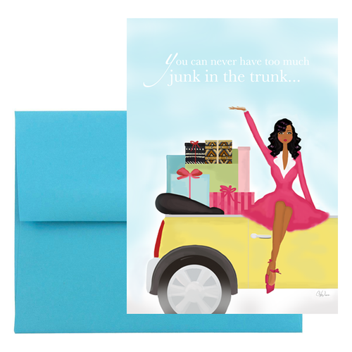 Funny Junk in Trunk Birthday Greeting Card, African American