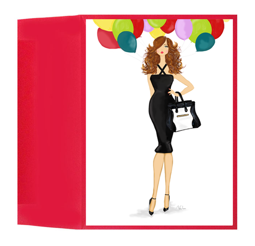 Fashionable Congratulations, Birthday, Graduation Balloon Bouquet Card