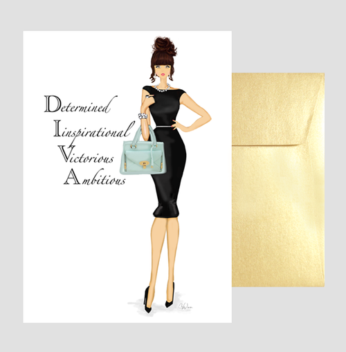 Fun Motivational, Inspirational DIVA Greeting Card for Her, Boss, Gift