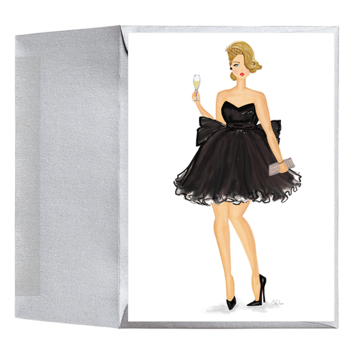 Fashion Congratulations Birthday Holiday Cheers Greeting Card for Her