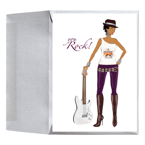Inspirational You Rock African American Greeting Card