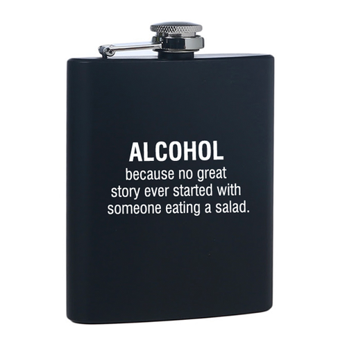 Stylish, Fun, Funny Alcohol and Salad Drinking Flask for Her or Gift