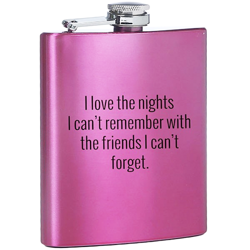 Stylish, Fun, Funny Drinking With Friends Flask for Her or Gift