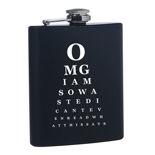 Stylish, Fun, Funny OMG Drinking Flask for Her or Gift