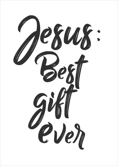 Religious Christmas Holiday Greeting Card or Boxed Set: Jesus is Best Gift