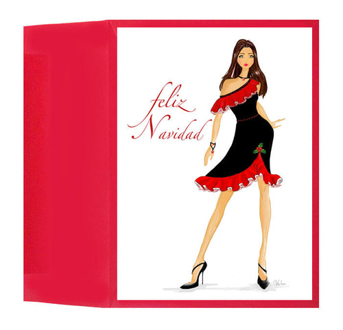 Spanish Christmas Holiday Greeting Card or Box: Feliz Navidad Wishes