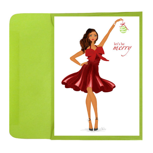 Fun Holiday Tis the Season Wine Gift Set, Greeting Card