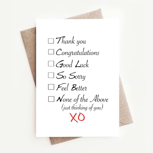 Fun Funny Stylish Thank You, All Occasion Boxed Notes