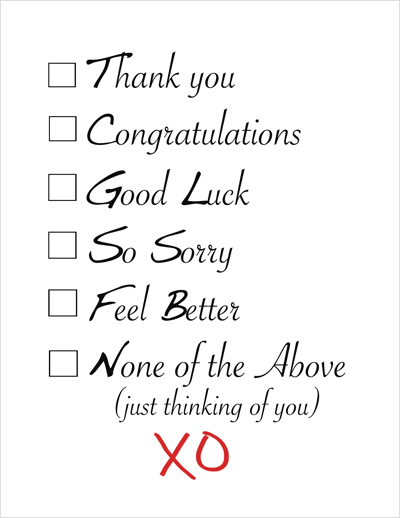 Fun Funny Stylish Thank You, All Occasion Notecard Assortment Box