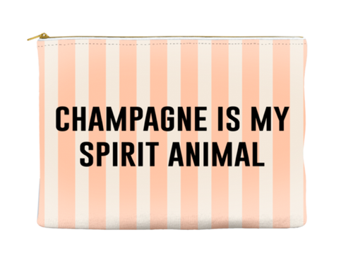 Funny, Stylish Champagne Spirit Animal Makeup Pouch, Make-Up Bag, Gift