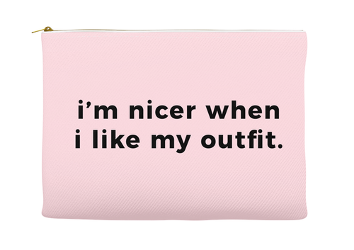 Fun, Funny, Stylish Like My Outfit Makeup Pouch, Make-Up Bag, Gift